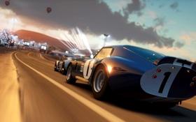Обои машины, гонка, игра, трасса, Horizon Forza