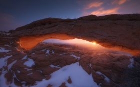 Обои rock, usa, utah, arches national park