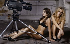 Обои девушки, обои, камера