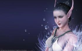 Картинка девушка, украшения, пузыри, эльф, арт, эльфийка, уши