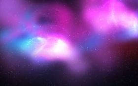 Обои космос, свечение, звёзды