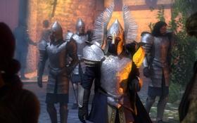 Обои солдаты, шлем, броня, Lord of the Rings, Soldiers of Gondor