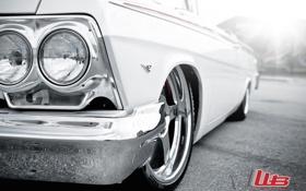 Картинка белый, макро, тюнинг, логотип, Chevrolet, шевроле, диски