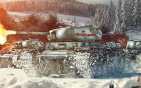 Обои tank, СССР, USSR, танк, танки, World of Tanks, КВ-1