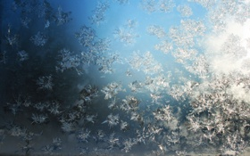 Обои свет, стекло, мороз