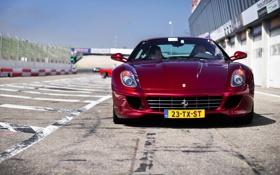 Картинка Fiorano, cars, auto, wallpapers, боксы, Ferrari 599GTB