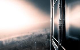 Обои город, окна, Дубай, Dubai, ОАЭ, Burj Khalifa, UAE