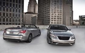 Картинка дома, парковка, америка, кабриолет, крайслер, Chrysler 200 S