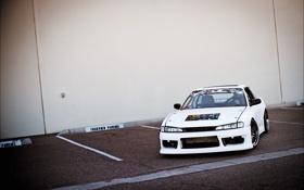 Обои Машина, белая, Silvia, Nissan, ниссан, Tuning, сильвия