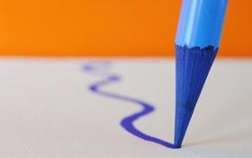 Обои линия, карандаш, цвет