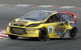 Обои Ford, Авто, Желтый, поворот, Спорт, Машина, Форд