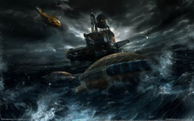 Картинка небо, darkness, sea, Новое начало, A new beginning, game wallpapers, clouds