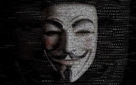 Картинка фон, маска, Anonymous, Typography