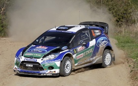 Обои Ford, Авто, Спорт, Скорость, Форд, Занос, WRC