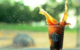 Картинка брызги, кофе, стакан, всплеск