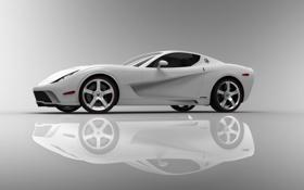 Обои chevrolet, Corvette, тачки, White, авто обои, cars, Z03