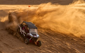 Обои Oklahoma, sand dunes, мотоцикл-внедорожник, Little Sahara