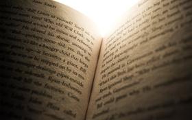 Обои макро, буквы, книга, открытая