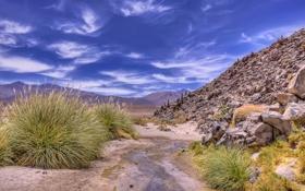 Обои природа, пейзаж, горы, небо