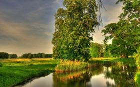 Обои пейзаж, природа, HDR, Германия, Basedow