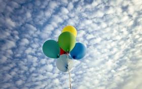 Картинка небо, фон, шары