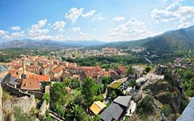 Обои дома, деревня, панорама, улицы