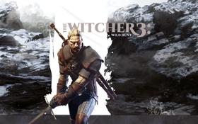 Картинка меч, борода, Геральт из Ривии, Geralt z Rivii, CD Projekt RED, The Witcher 3: Wild ...
