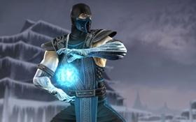 Обои холод, игра, лёд, персонаж, Смертельная битва, Sub - Zero