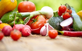 Картинка редис, овощи, фрукты, кабачки, помидоры, перец, баклажаны