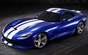 Обои синий, полосы, фон, Додж, Dodge, суперкар, диски