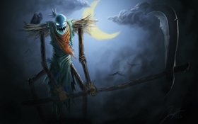 Обои league of Legends, moon, warrior