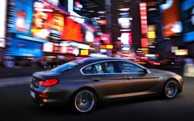 Обои Серый, BMW, Бумер, Город, Вид сбоку, Ночь, Авто