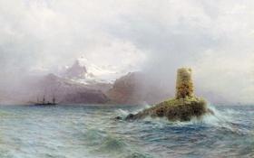 Обои Лагорио, Лафотенский остров, картина