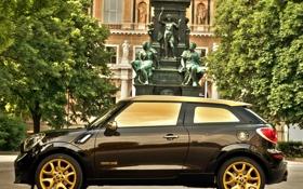 Обои машина, дизайн, gold, MINI, Cooper S, Paceman, By Roberto Cavalli