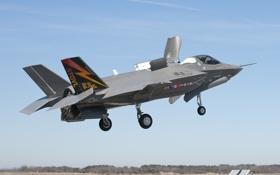 Картинка небо, посадка, аэродром, F-35