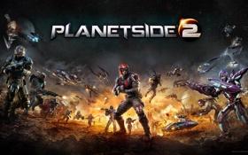 Картинка оружие, война, танки, самолёты, Sony Online Entertainment, PlanetSide 2