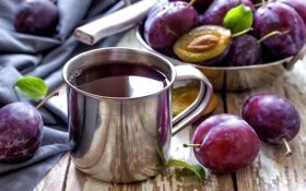 Обои фрукты, сливы, чернослив, plum
