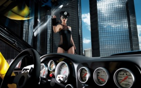 Картинка девушка, полиция, тачка, Kalender 2011, Der, Miss-Tuning