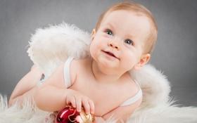 Картинка шарик, ангелочек, малыш, крылья, ребёнок, игрушка