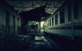 Картинка вагоны, депо, транспортное, old trains