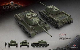 Картинка танк, China, танки, World of Tanks, Китай, Wargaming.net, T-34-1