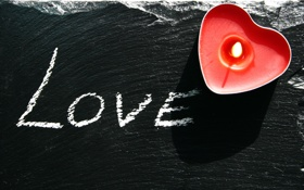 Картинка любовь, надпись, сердце, свеча, love, огонёк