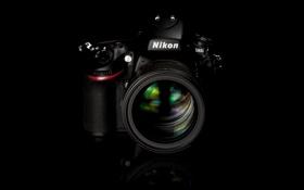 Картинка черный, фон, обои, фотоаппарат, Nikon D800