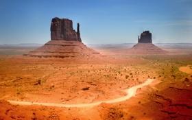 Обои дорога, песок, пустыня, пейзажи, пустыни