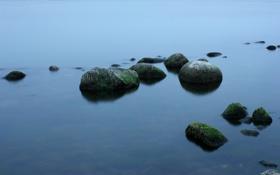 Обои камни, берег, океан, природа, вода, море