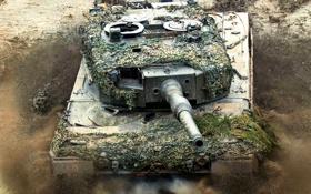 Картинка фон, танк, MBT-Leo2A4 AUSTRIA