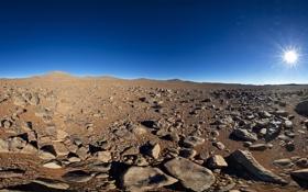 Обои Америк, Южная, пустыня, Солнце, Чили