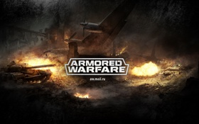 Обои огонь, игра, танки, tanks, mail.ru, Armored Warfare, Obsidian Entertainment