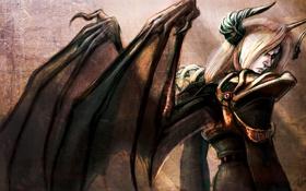 Картинка крылья, демон, арт, рога, not so great demon king, by pu sama-