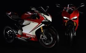 Обои темнота, мотоцикл, байк, полумрак, Ducati, bike, дукати